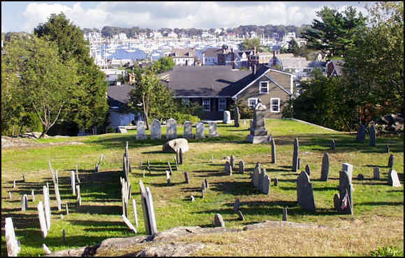 Old Burial Hill, overlooking Marblehead Harbor.